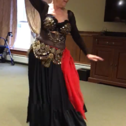 Eleanor Cain, 81, of Brewer performs at senior centers, clubs and other venues in the Bangor area. Cain has been belly dancing since she was in her 30s and continues to learn new steps and choreographies.