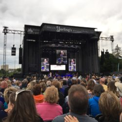 It was a night for old rockers and the fans who love them when Cyndi Lauper and Rod Stewart came to Bangor.