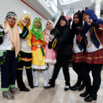 Muslim women cosplayers pose during a cosplay event at a mall in Petaling Jaya, near Kuala Lumpur, Malaysia, July 8, 2017.