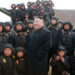 Kim Jong Un attends the Korean People's Army Tank Crews' Competition on April 1, 2017, in Pyongyang, North Korea.