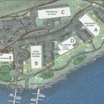 This image of a proposed redevelopment of the east side of Saco Island was posted online by the City of Saco.