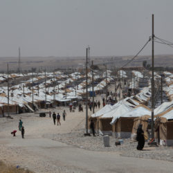 A refugee camp is seen in Mosul, Iraq on July 17, 2017.