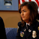 Minneapolis Chief of Police Janee Harteau takes part in a 2013 round table discussion on ways to reduce gun violence. She was forced out of the position following the shooting death of an Australian woman by one of her officers.