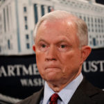 U.S. Attorney General Jeff Sessions looks on during a news conference on July 20, 2017.