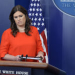 Principal Deputy Press Secretary Sarah Huckabee Sanders answers questions about the resignation of White House Press Secretary Sean Spicer during a press briefing on Friday, July 21, 2017.