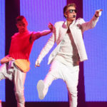 Canadian pop singer Justin Bieber performs during his world tour concert in Beijing, China, Sept. 29, 2013.