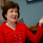 U.S. Sen. Susan Collins, R-Maine, speaks during an interview in her office on Capitol Hill in Washington, U.S., July 24, 2017.