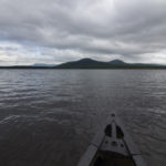 Lobster Township, Maine -- 07/15/17 - Lobster Mountain is seen from Lobster Lake on July 15, east of the north end of Moosehead Lake. Campsites are located along the shore of the lake, and a 2-mile hiking trail leads to the top of the mountain.  (Aislinn Sarnacki | BDN)