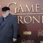 "Co-executive producer George R.R. Martin arrives for the season premiere of HBO's ""Game of Thrones"" in San Francisco, California, March 23, 2015."