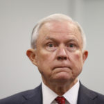 Attorney General Jeff Sessions waits to speak at the U.S. Attorney's office on Friday, July 21, 2017 in Philadelphia.