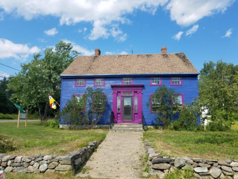 The brightly colored exterior of Me Lon Togo in Searsport.