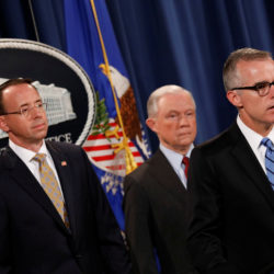 FBI Acting Director Andrew McCabe speaks during a news conference announcing the takedown of the dark web marketplace AlphaBay, at the Justice Department in Washington, July 20, 2017.