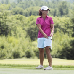 Staci Creech of Veazie and Bangor Municipal Golf Course, pictured during the 2016 tournament in Orono, on Wednesday captured her third consecutive victory in the Maine Women's Amateur Championship held at Martindale Country Club in Auburn. She finished with a three-day total of 4-over 217.