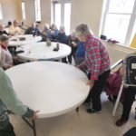 Belfast-area seniors gather for the inaugural meeting of the Belfast Senior Center in this photo from January 2017. Senior centers provide activities, information and socialization and are an important source of community support for older Mainers.