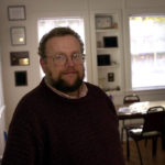 Earl Brechlin, editor of the new newspaper in Bar Harbor, the Mount Desert Islander, in 2001.