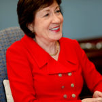 U.S. Senator Susan Collins (R-ME) speaks during an interview in her office on Capitol Hill in Washington on July 24, 2017.