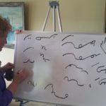Kay Grindall has been doing shorthand for 50 years, and taught it for 30. She started the club to help shorthand writers stay in touch with their skills and each other.