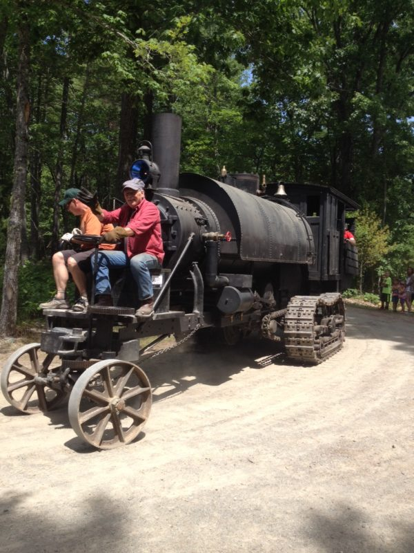 Steam-powered log hauler at Leonard's Mill 'fun, but not very