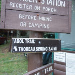 A sign posted at the Abol Campground ranger station. BDN file photo