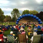 The Bangor Band plays at Chapin Park in Bangor.