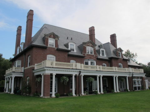 The front view of La Rochelle mansion in Bar Harbor. The former mansion was donated by Tristram Colket to Maine Sea Coast Mission in 1972, as was a dedicated endowment for the building's upkeep.    BDN staff photo by Bill Trotter