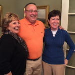 Maine Gov. Paul LePage is flanked by his wife, Ann, at left, and Republican U.S. Sen. Susan Collins at a Blaine House food drive, Nov. 1, 2014.