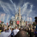 Fireworks go off around Cinderella's castle at Walt Disney World in Lake Buena Vista, Florida, Dec. 6, 2012.