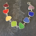 Lisa Hall makes her sea glass jewelry using only sea glass that has been weathered by time and the ocean.