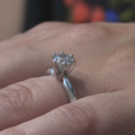 A bride-to-be has her engagement ring back, thanks to her fiancé, some determination and some scuba diving gear.