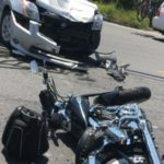 Friday afternoon, a motorcyclist was seriously injured when he was struck by a car in Norridgewock.