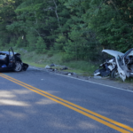 Three people were taken to Maine Medical Center in Portland late Sunday afternoon — one of them by LifeFlight helicopter — following a head-on crash on Route 5, also known as Sokokis Trail.