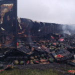 A tractor trailer full of watermelons caught fire in Augusta Saturday morning.
