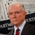 U.S. Attorney General Jeff Sessions looks on during a news conference announcing the takedown of the dark web marketplace AlphaBay, at the Justice Department in Washington, July 20, 2017.