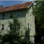 The Skowhegan apartment building where police arrested Stephanie Freeman, 28, on a charge of endangering the welfare of a child.
