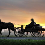 An Amish driver, horse and buggy travel on Forest Avenue in Fort Fairfield in September 2011.