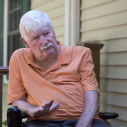 Gary Jarvis at his Hermon home. Gary was diagnosed with amyotrophic lateral sclerosis, or ALS, in 1999 and slowly has been losing the use of muscles in his body.