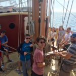 Students aboard the training ship Oliver Hazard Perry, which is docked in Portland through Sunday. (Alexa Maslowski | CBS 13)