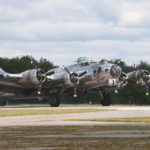 Seen here during a visit to Maine in 2014, Sentimental Journey, a fully restored B-17 Flying Fortress, will be available at Hancock County-Bar Harbor Airport for rides and tours at Scenic Flights of Acadia from Aug. 7-20.