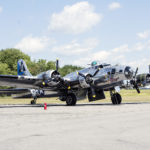 TRENTON, Maine -- 080717 -- Sentimental Journey, a B-17G bomber that served in the Pacific during World War II, will be on display at Trenton's airport until Aug. 20. Nick Sambides Jr. | BDN
