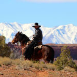 Preston Johnson rides his horse in search of stray cattle in the new Bears Ears National Monument, in southern Utah, March 7, 2017.
