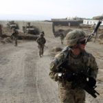 U.S. soldiers of B Troop, 1st squadron of 4th US Cavalry Regiment patrol Sar Howza in Paktika province, Oct. 30, 2012.