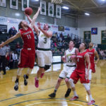 Husson University plays against Thomas College in a January 2017 contest.