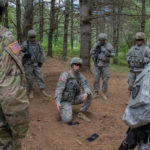 Soldiers from the 120th Regional Support Group prepared for deployment to Southwest Asia at Plymouth Training Site in town.