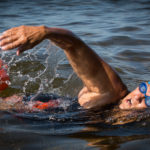 Pat Gallant-Charette, 66, of Westbrook trains at Sebago Lake State Park in Casco on Wednesday morning. Gallant-Charette is the oldest woman to ever swim the English Channel and is gearing up for a Great Lakes swim in a few weeks.