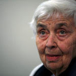 German-born nun Ruth Pfau attends a press conference at Marie Adelaide Leprosy Centre in Karachi, Pakistan, Jan. 25, 2014.