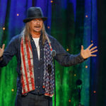 Kid Rock inducts rock band Cheap Trick at the 31st annual Rock and Roll Hall of Fame Induction Ceremony at the Barclays Center in Brooklyn, New York, U.S. on April 8, 2016.