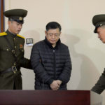 South Korea-born Canadian pastor Hyeon Soo Lim stands during his trial at a North Korean court in this undated photo released by North Korea's Korean Central News Agency (KCNA) in Pyongyang, Dec. 16, 2015.