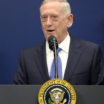 Secretary of Defense James Mattis speaks in the Hall of Heroes at the Department of Defense Friday, Jan. 27, 2017 in Arlington, Va. Mattis said Monday that if North Korea carried out its threat to launch missiles toward Guam, it could escalate to war.