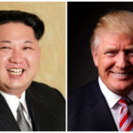 A combination photo of North Korean leader Kim Jong Un and President Donald Trump.