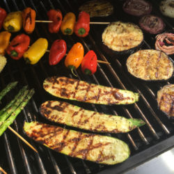 A selection of vegetables from the grill.